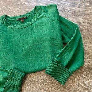 banana republic   green wool crewneck sweater sz l